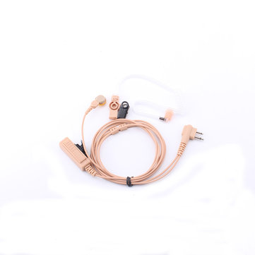 Moto M Connector Earphone Khaki Long PTT Button Air Duct Headphones For CP040 CP200 GP300