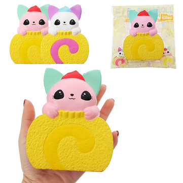 Kiibru Squishy Cat Swiss Roll Cake 10.5cm Licensed Slow Rising With Packaging Collection Gift Soft Toy