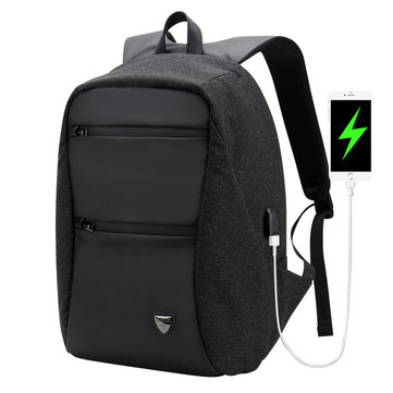 ARCTIC HUNTER B00207 26L Anti-theft 15.6 Laptop Backpack Waterproof Business Travel USB Rucksack