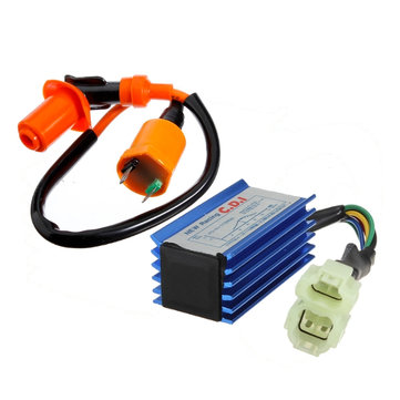 Ignition Coil and CDI Box for GY6 50 125 150cc Motorcycle Go Kart ATV Dirt Pit Bike