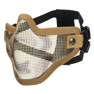 Tactical Security Protect Hunting Metal Wire Half Face Mask Mesh Airsoft Mask Paintball