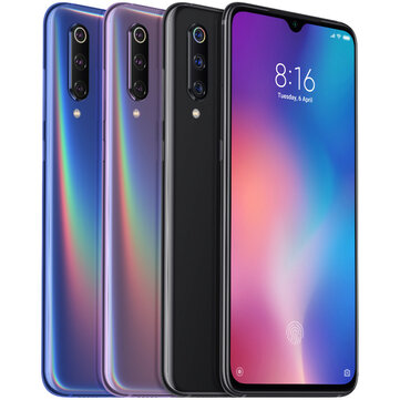 Xiaomi Mi9 Mi 9 Global Version Appareil photo triple arrière 48MP 48MP NFC 6GB 64GB Snapdragon 855 Octa core 4G Téléphone intelligent