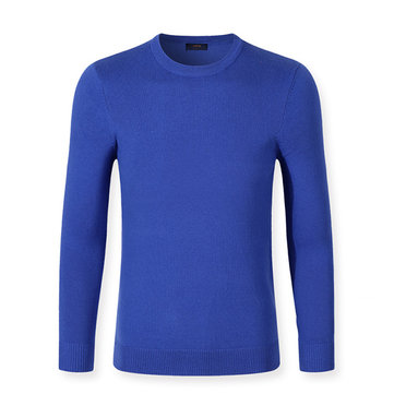 Casual Solid Color Warm Pullover Long Sleeve T-shirt