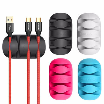 BlitzWolf® BW-PM2 4PCS TPU Multipurpose Cable Clip Cord Management System Desktop Cable Organizer Cable Holder