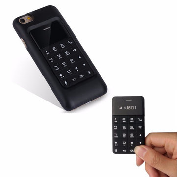 Anica A11 1.1 Inch Ultra Thin Bluetooth Music GSM Mini Card Mobile Phone With iPhone 6 Case
