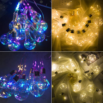10 Bulbs Light Hanging LED String Light Firefly Party Wedding Home Decoration Romantic