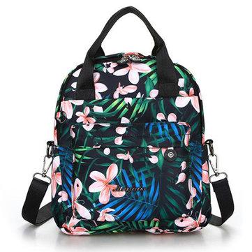 Waterproof Casual Handbag Flower Trend Multifunctional Backpack For Ladies