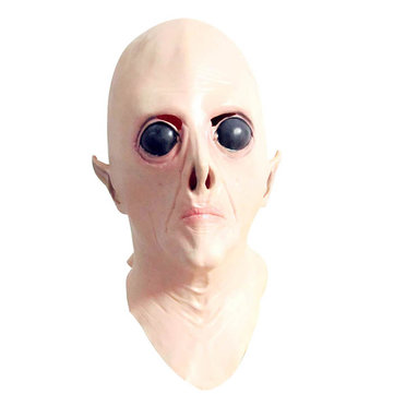 Halloween Creepy UFO Sci-fi Movie Theme Mask Headgear Full Head Face Latex