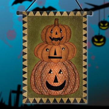 30x45cm Halloween Pumpkin Polyester Welcome Flag Garden Holiday Decoration