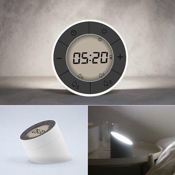 2 In 1 Multifunktions Digital Wecker LED Nachtlicht Umbrella Uhr Atmosphäre  Lampe 10 Hebel