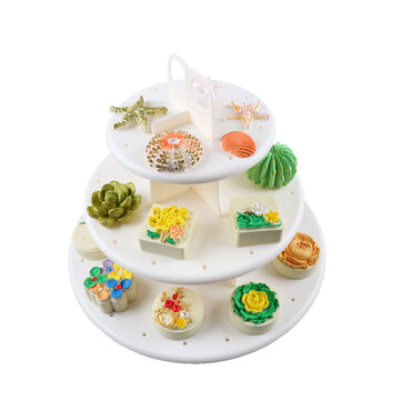 3 Tier Wedding Birthday Party Cake Cupcake Stand Dessert Display Lollipop Holder Cake Decorations