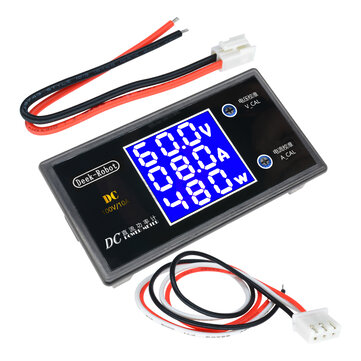 Digital DC 0-100V 0-10A 250W Tester DC7-12V LCD Digital Display Voltage Current Power Meter Voltmeter Ammeter Amp Detector