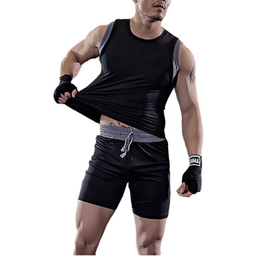 Mens Quick Drying Rapid Perspiration Workout Gym Suits