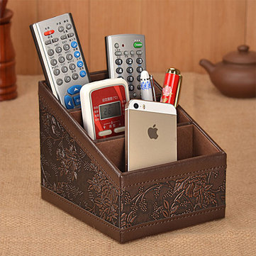 Remote Control Storage Box Classic Office Desk Desktop Organizer Pen Sundries Holder