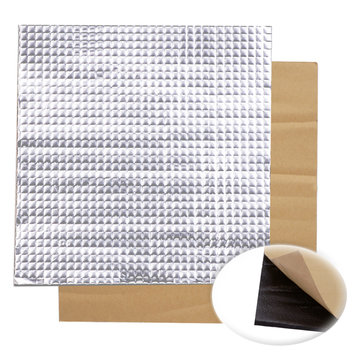10pcs 300x300x10mm Foil Self-adhesive Heat Insulation Cotton For 3D Printer Heated Bed
