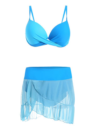 Push Up Sexy Mesh Bikini Set Women Beach Bathing Suits