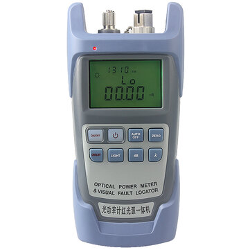 AUA-9A All-in-one PC Fiber Optic Power Meter with 10km Laser Source Visual Fault Locator 1mw/10mw