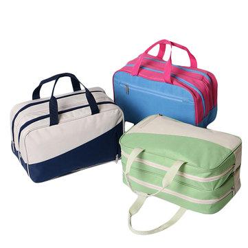 Ткань Оксфорд хранения Дорожная сумка Swim Wash Bag Waterproof мокрой и сухой Разделение пакета