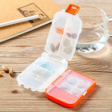 Honana HN-PB011 휴대용 8 개의 구획 환약 상자 Foldable 3 개의 층 환약 주최자 약 상자