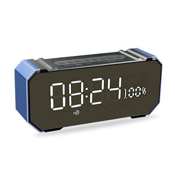 Wireless Bluetooth 4.2 Speaker Subwoofer Dual Clock Setting Support FM TF USB Handfree Call