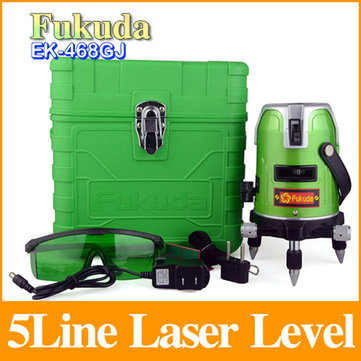 Fukuda EK-468GJ 5 Lines 1 Point Green Laser Level 360 Degree Rotary Lazer Level