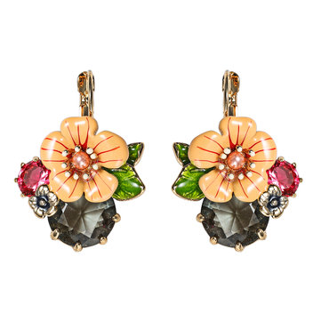 Trendy Flower Alloy Ear Drop Earrings Accessories Jewelry Earring For Women