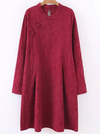 Retro Women Vintage Loose Cotton Linen Dress