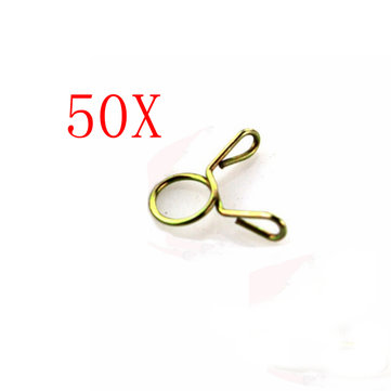 50pcs 7-9mm Fuel Line Hose Tubing Spring Clip Clamp Motorcycle Boat ATVs Scooter