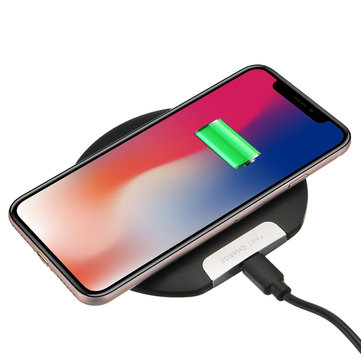 Ultra Thin 10W Qi Wireless Charger Fast Charging Phone Holder For Qi-enabled Devices Samsung Galaxy S10 Plus iPhone XS Max Huawei P30 Pro Xiaomi Mi9