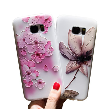 Bakeey 3D Relief Printing Flower Soft Protective Case for Samsung Galaxy S7 Edge