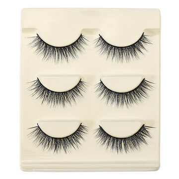 3D False Eyelashes Set Blue False lashes Makeup Natural Eyelashes Extension for Party
