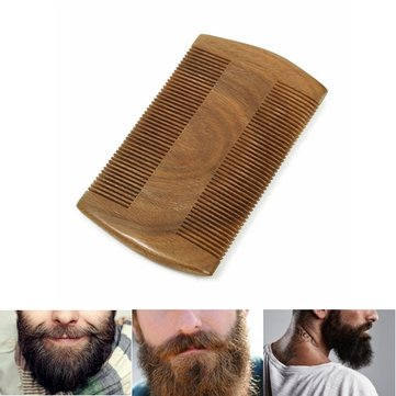 Beard Mustache Wood Anti-static Maintain Grooming Trimming Comb Brush