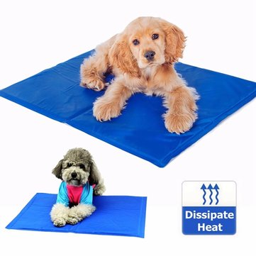 65cm x 50cm Dog Cat Pet Cooling Mat Heat Hot Weather Gel Pad Bed Self Cooling Dog Cool Mat