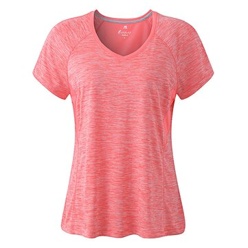 Femmes Casual Pure Color Short Sleeve Round Neck Workout T-Shirts