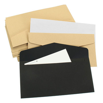 50Pcs Vintage Blank Paper Envelopes for Package Gift Bank Card
