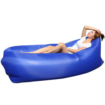 IPRee® Square-headed Air Inflatable Lazy Sofa 210D Oxford Portable Travel Lay Bed Lounger Max Load 300kg