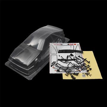 1/10 Clear Plastic Transparent PVC RC Car Body Shell 260mm Wheelbase for HSP HPI YOKOMO Tamiya