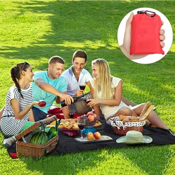 Honana HN-PB007 150cm Foldable Outdooors Playmat Travel Pocket Blanket Light Weight Portable Beach Picnic Mat