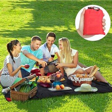 Honana HN-PB007 150cm Foldable 야외 Playmat 여행 포켓 담요 경량 휴대용 비치 피크닉 매트