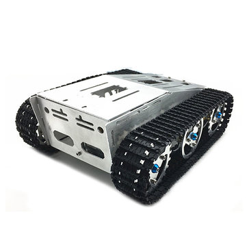 DIY Self-assembled RC Robot Tank Car Chassis With Crawler Kit