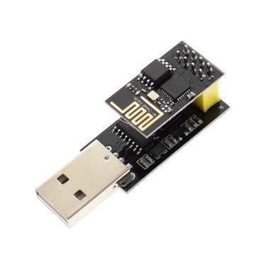 Module sans fil pour émetteur-récepteur WIFI Geekcreit® ESP8266 ESP01 + Adaptateur série vers USB ESP8266