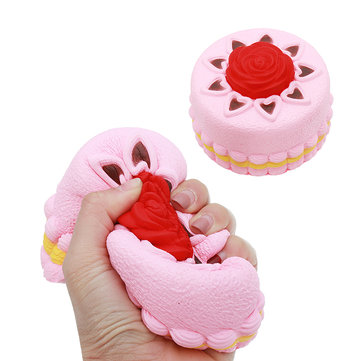 Squishy Rose Cake 12cm Novelty Stress Squeeze Slow Rising Squeeze Collection Cure Toy Gift