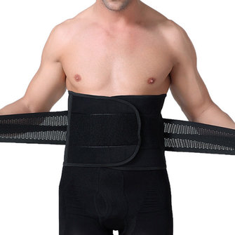 Mens Abdomen Belt Body Sculpting Thin Breathable Curl Girdling Fit Belt Waistband