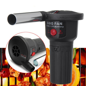 BBQ Barbecue Air Blower Motor Grill Hand Fan Electric Blowing Charcoal Machine