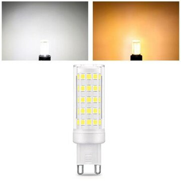 AC110-240V 9W G9 SMD2835 Non-dimmable 75 LED Ceramic Corn Light Bulb for Outdoor Home Decoration