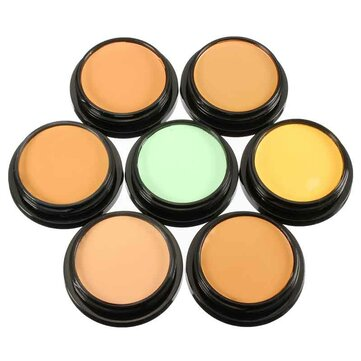 7 Colors IMAGIC Makeup Foundation Powder Face Concealer Mineral Cosmetics Tool