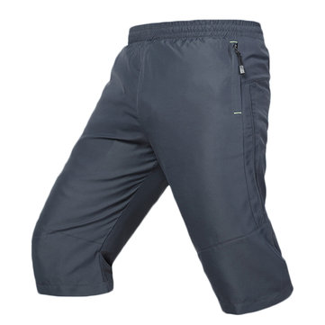Mens Multi-pocket Quick Drying Calf-Length Jogger Shorts