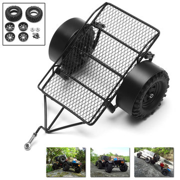 Yeah Racing 1/10 RC Car Parts Crawler Metal Drag Chain Leaf Spring Hitch Mount Tow Trailer YA-0405