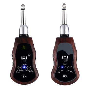 K380C 5 In1 UHF Wireless Guitar Effects Bluetooth Transmitter Receiver for Electric Guitar Bass