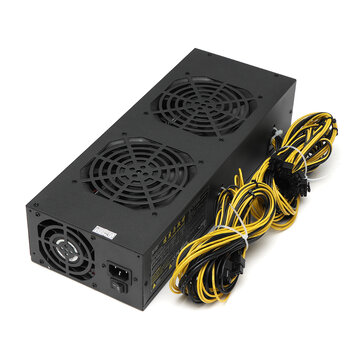 2800W Miner Mining Power Supply Mining Rig Machine with Four Fans For A6 A7 s5 s7 B3 E9 L3+ R4 Miner